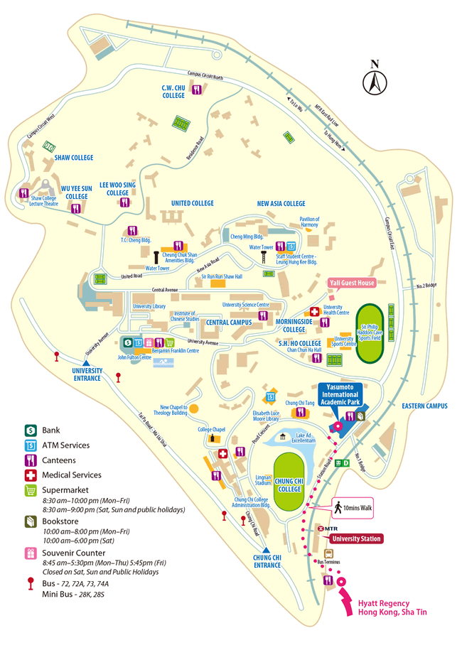 Map for CUHK